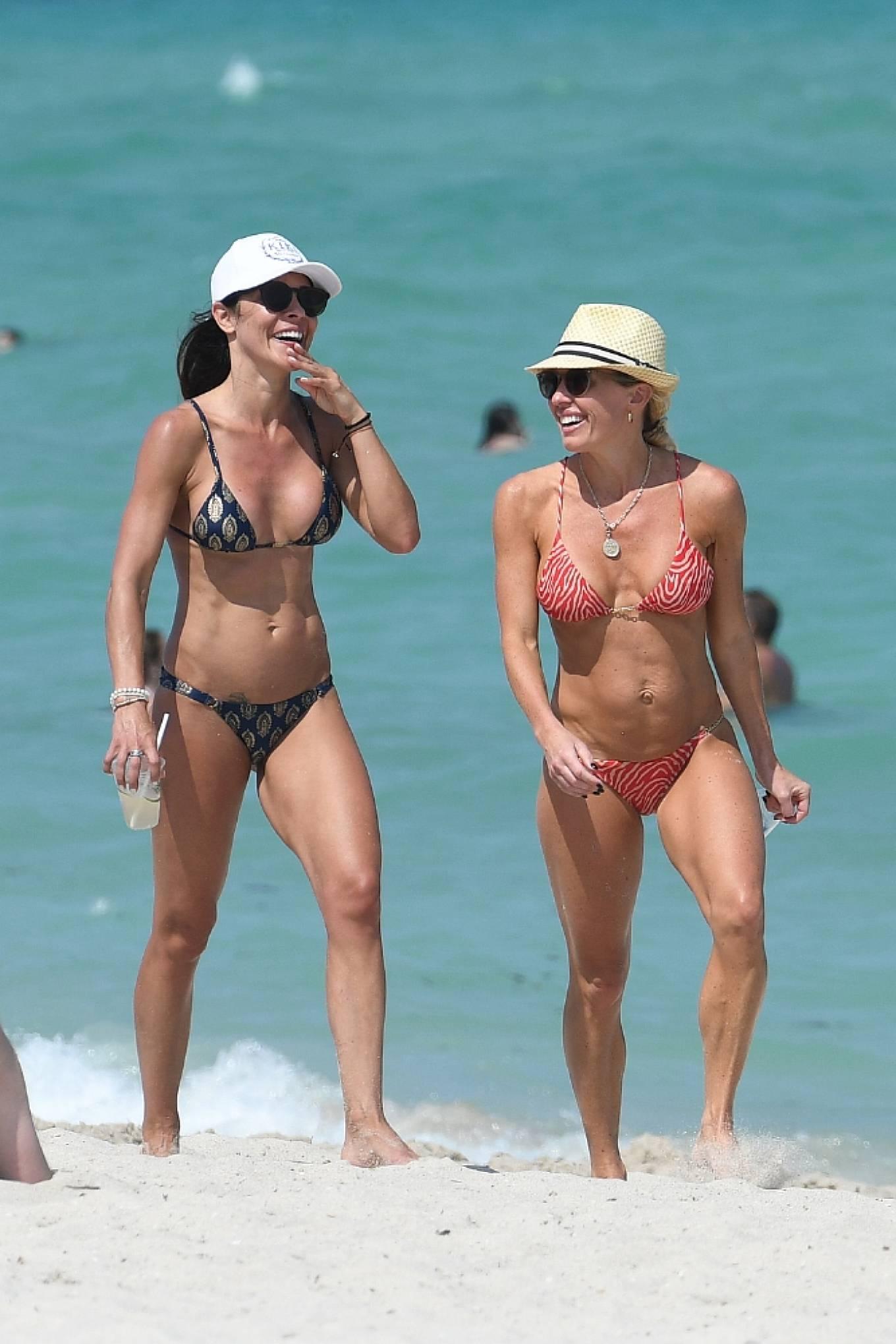 Braunwyn Windha-Burke 2021 : Braunwyn Windham-Burke – In a red bikini with Fernanda Rocha on the beach in Miami-14