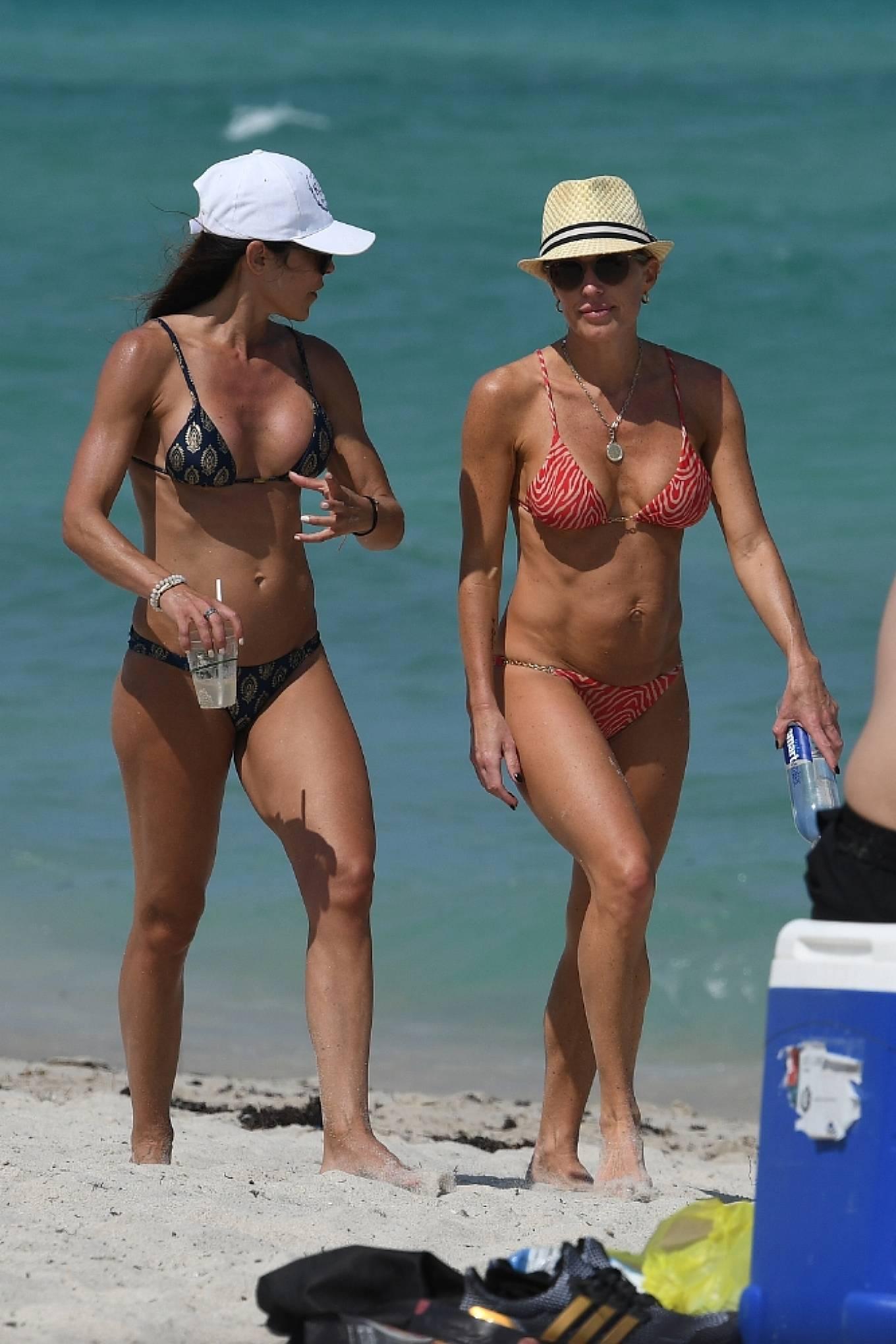 Braunwyn Windha-Burke 2021 : Braunwyn Windham-Burke – In a red bikini with Fernanda Rocha on the beach in Miami-15