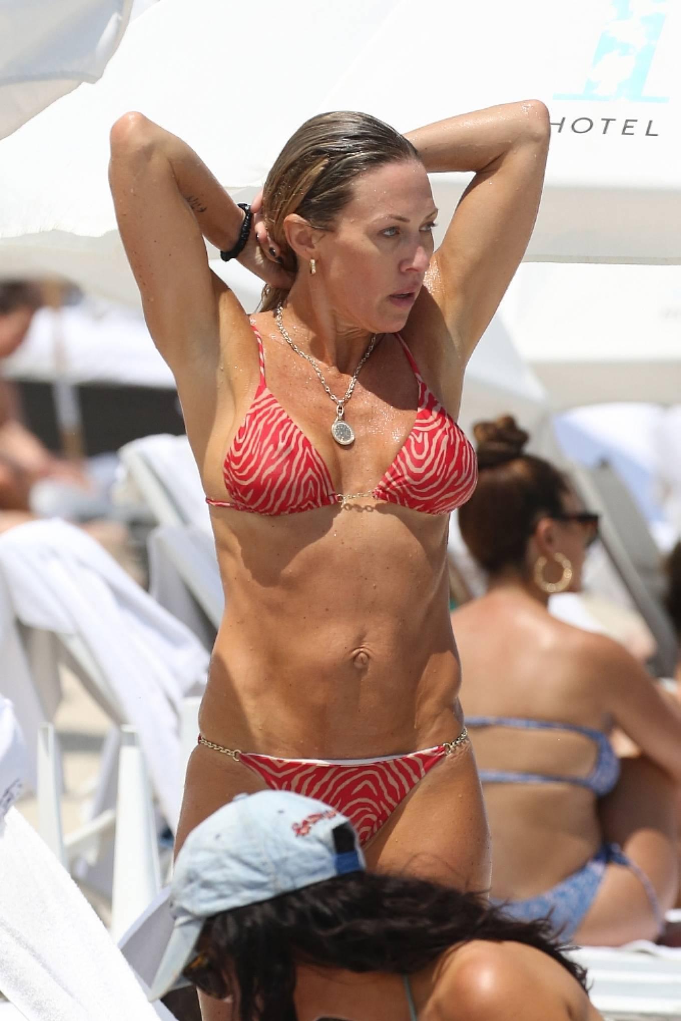 Braunwyn Windha-Burke 2021 : Braunwyn Windham-Burke – In a red bikini with Fernanda Rocha on the beach in Miami-16