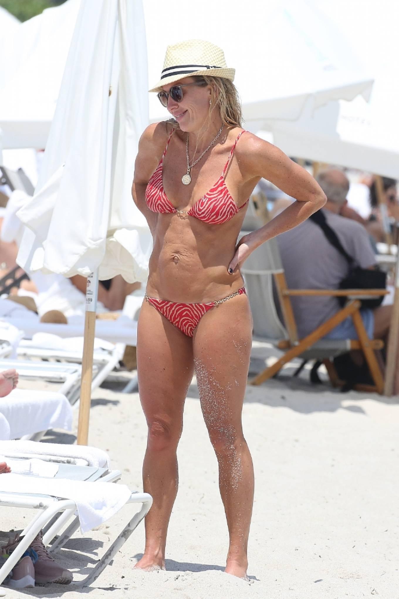 Braunwyn Windha-Burke 2021 : Braunwyn Windham-Burke – In a red bikini with Fernanda Rocha on the beach in Miami-24