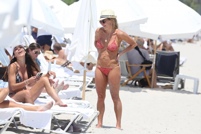 Braunwyn Windha-Burke 2021 : Braunwyn Windham-Burke – In a red bikini with Fernanda Rocha on the beach in Miami-26
