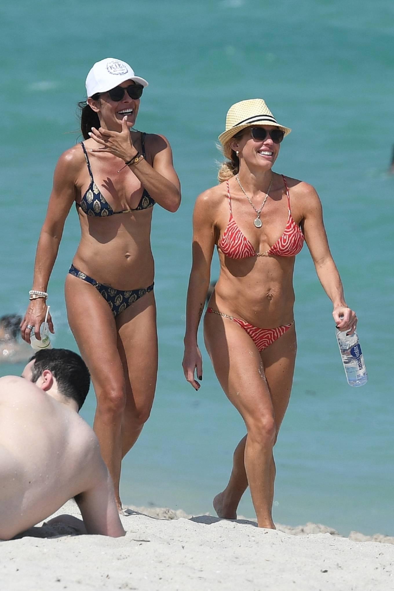 Braunwyn Windha-Burke 2021 : Braunwyn Windham-Burke – In a red bikini with Fernanda Rocha on the beach in Miami-30