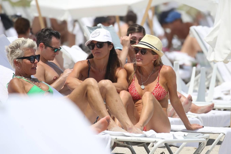 Braunwyn Windha-Burke 2021 : Braunwyn Windham-Burke – In a red bikini with Fernanda Rocha on the beach in Miami-32