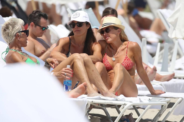 Braunwyn Windha-Burke 2021 : Braunwyn Windham-Burke – In a red bikini with Fernanda Rocha on the beach in Miami-35