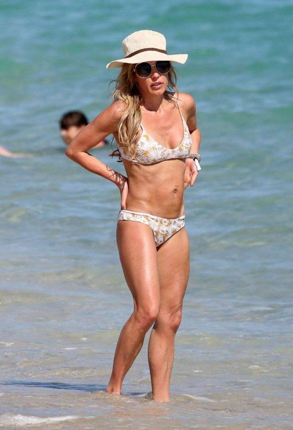 Braunwyn Windham-Burke in Bikini on the beach in Miami