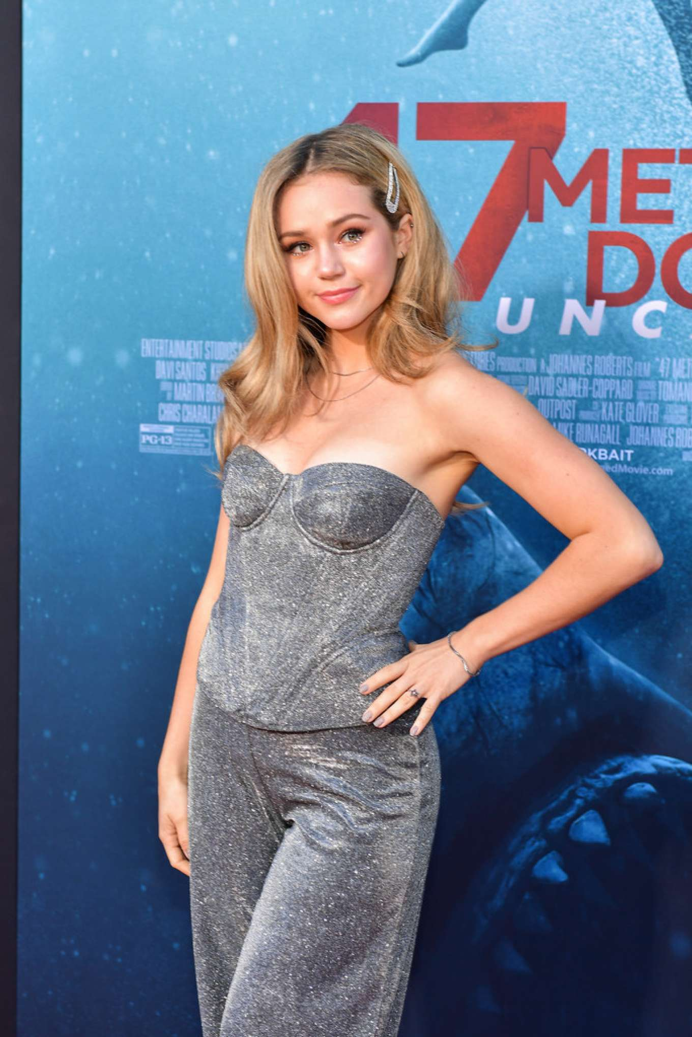 Brec Bassinger - '47 Meters Down Uncaged' premiere photocall in Westwood