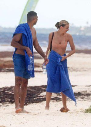 Bregje Heinen in Bikini on the beach in Tulum