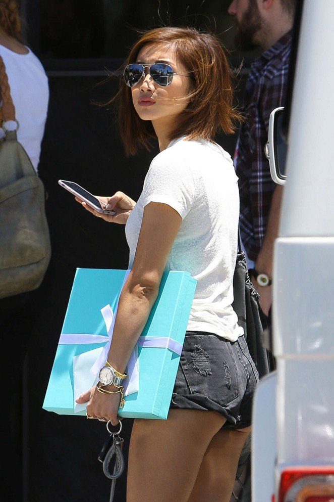 Brenda Song in Shorts Out in Studio City