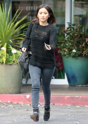Brenda Song in skinny jeans out in Beverly Hills