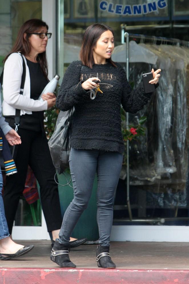 Brenda Song in skinny jeans -07