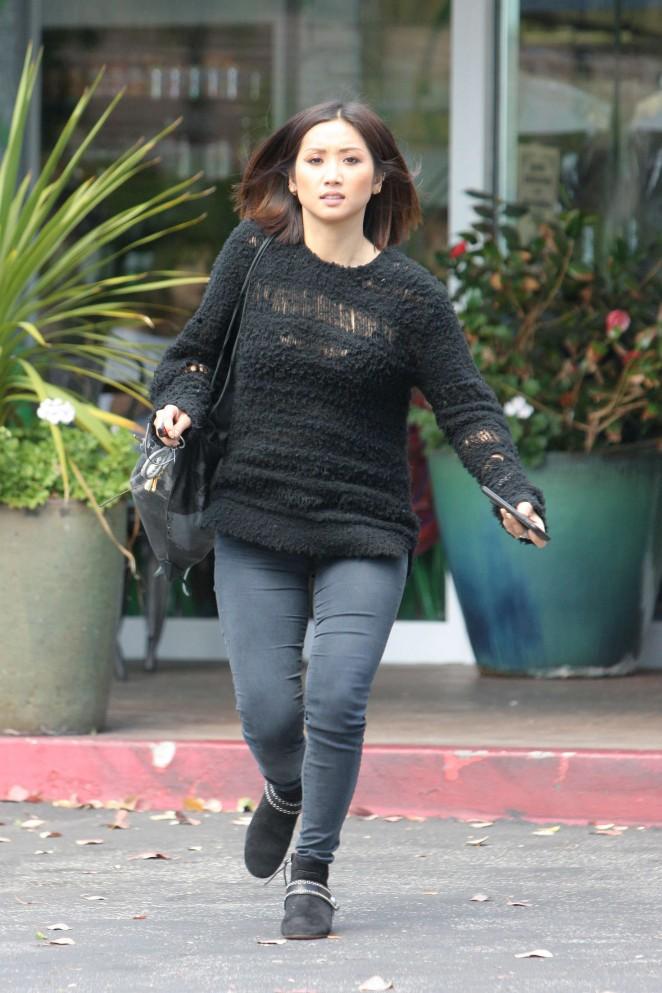 Brenda Song in skinny jeans -16