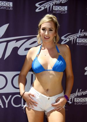Brett Rossi in Bikini hosts Sapphire Pool and Dayclub in Las Vegas
