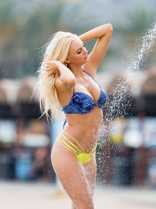 Bri Teresi in Bikini on the beach in Los Angeles