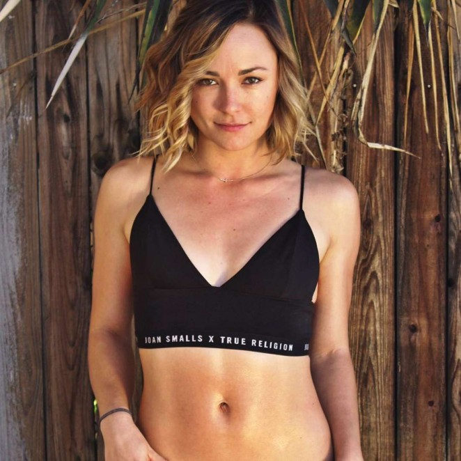 Briana Evigan in a sports bra - Instagram