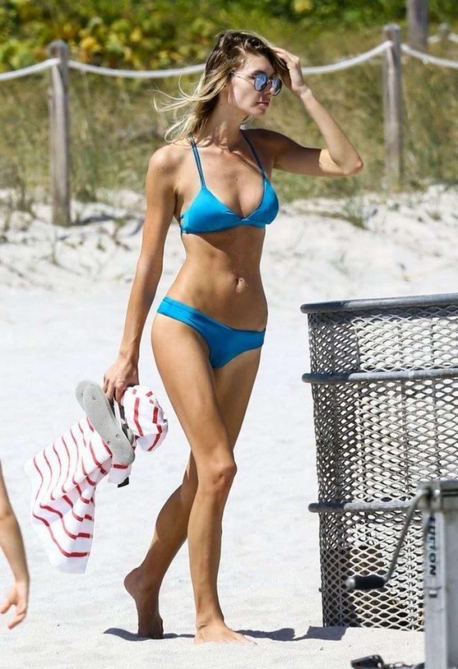 Brianna Addolorato in Blue Bikini on Miami Beach