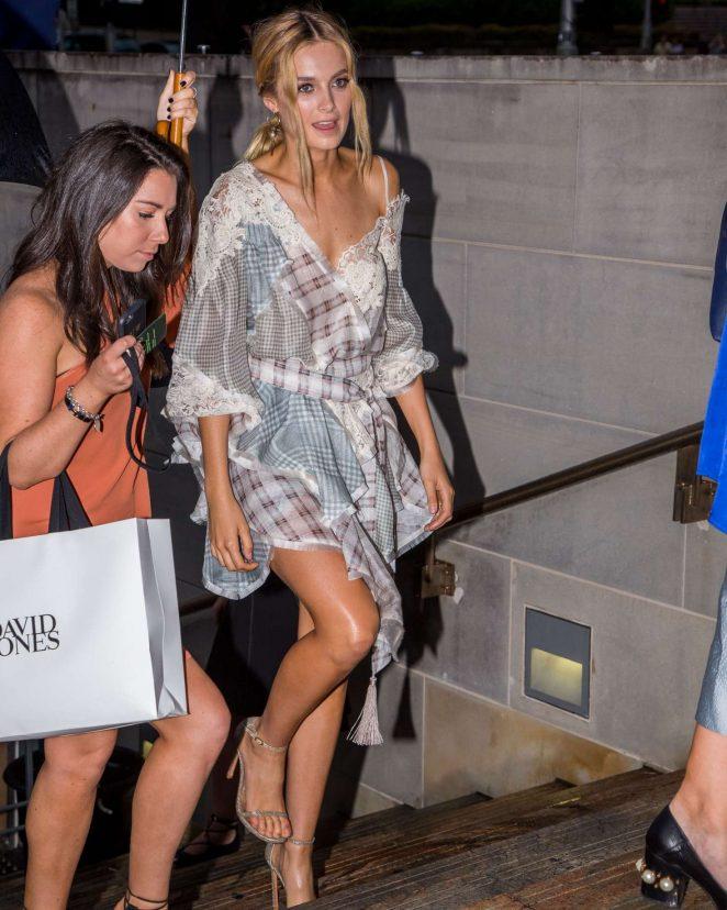 Bridget Malcolm - Arrives at Autumn Winter 2017 David Jones Fashion Launch in Sydney