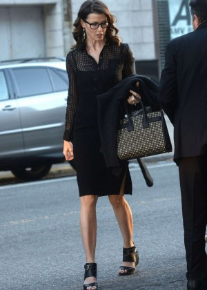 Bridget Moynahan - Arrives This Morning Show in New York