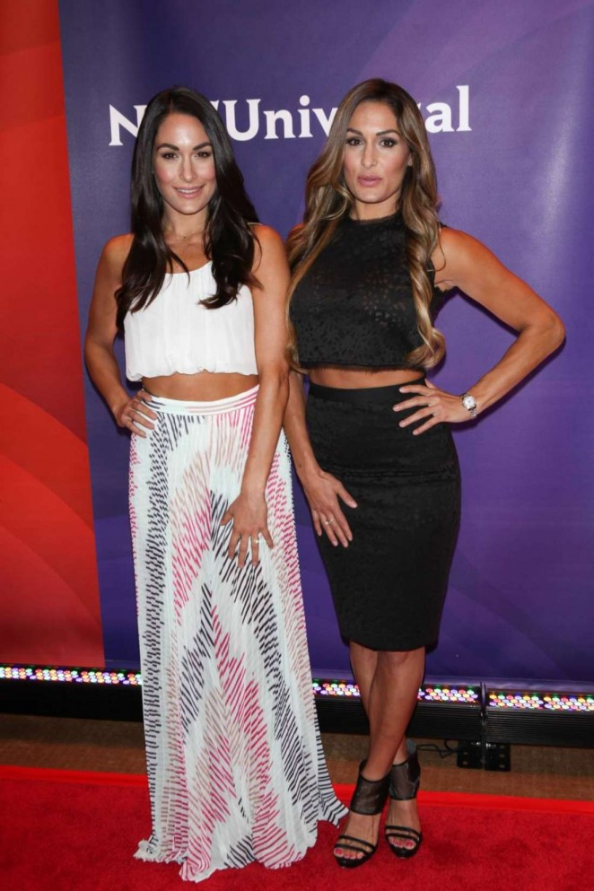 Brie and Nikki Bella - 2015 NBC New York Summer Press Day in NYC