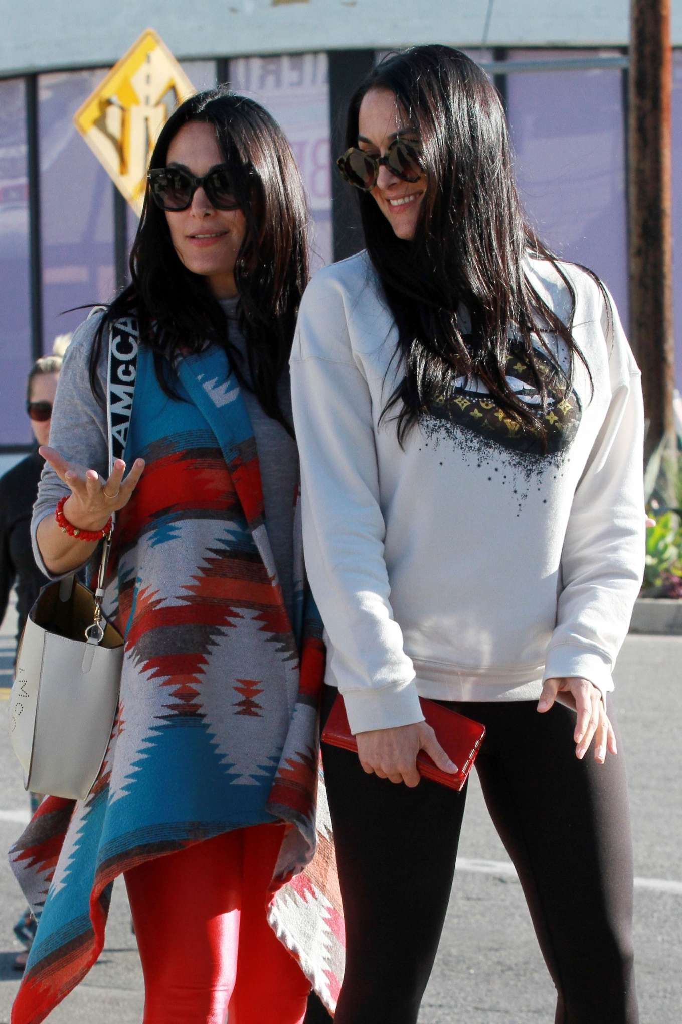 Brie and Nikki Bella - Leave Joan's On Third in Studio City