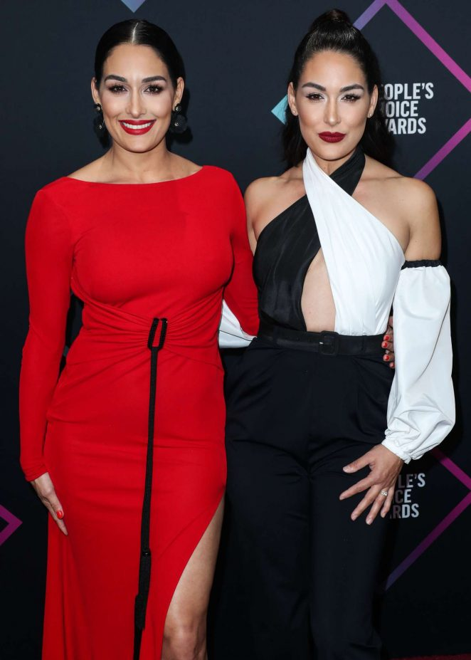 Brie and Nikki Bella – People's Choice Awards 2018 in Santa Monica