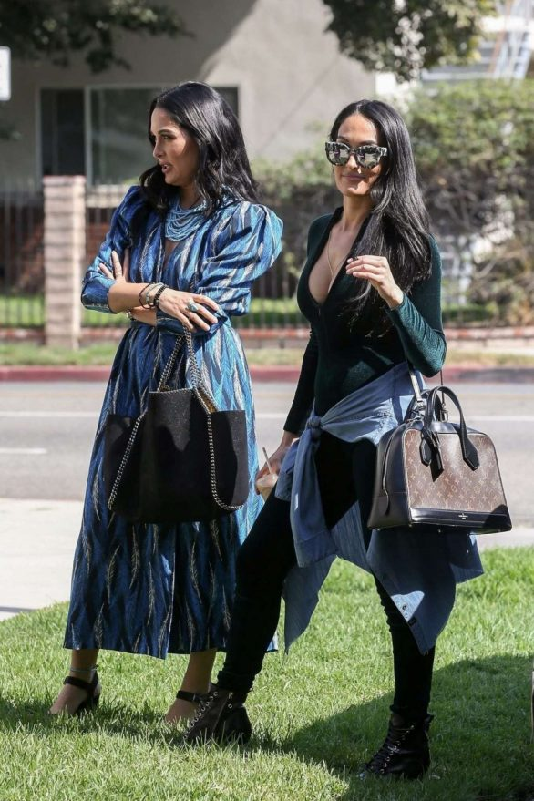 Brie and Nikki Bella - Shoot scenes for their reality show 'Total Bellas' in LA