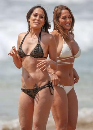 Brie Bella, Nikki Bella, Paige, Lana and Renee Young - 'Total Divas' Series Photoshoot in Malibu