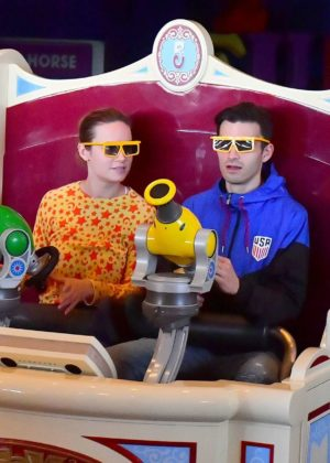 Brie Larson and her fiance Alex Greenwald in Disneyland