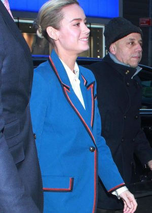 Brie Larson - Arrives at Good Morning America in New York