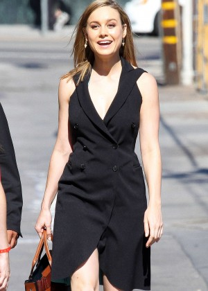 Brie Larson - Arrives at 'Jimmy Kimmel Live' in Hollywood