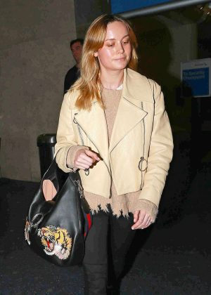Brie Larson Arrives at LAX Airport in Los Angeles