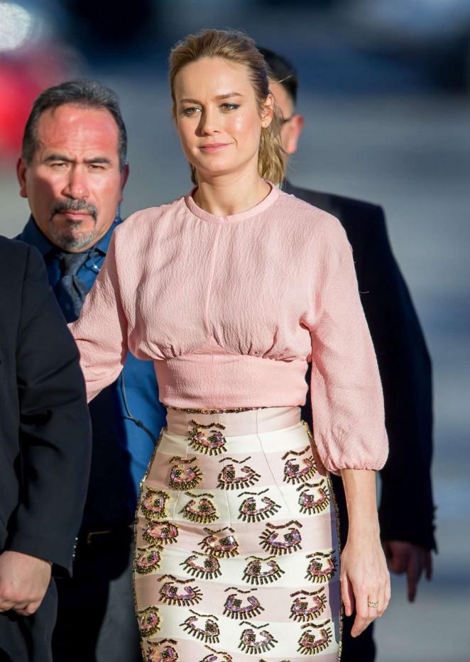 Brie Larson – Arriving at 'Jimmy Kimmel Live' in LA