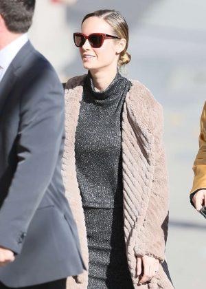 Brie Larson - Arriving at Jimmy Kimmel Live! in LA
