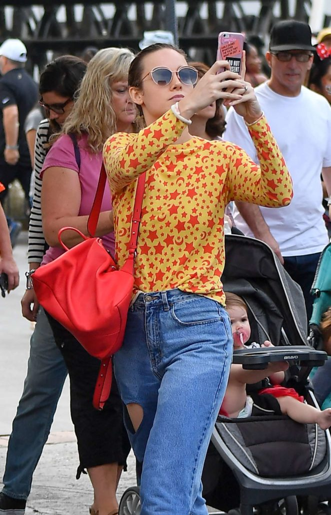 Brie Larson at Disneyland in Anaheim