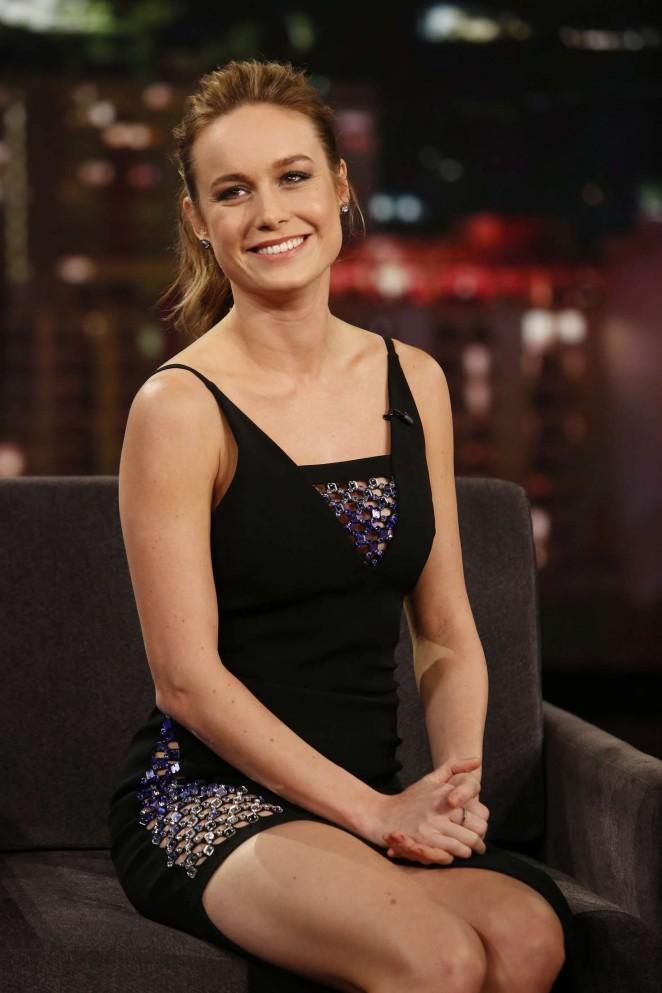 Brie Larson at 'Jimmy Kimmel Live' in LA