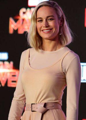 Brie Larson - 'Captain Marvel' Press Conference in Singapore