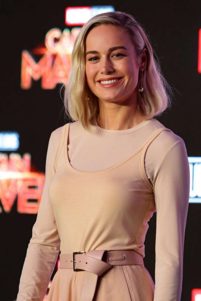 Brie Larson – 'Captain Marvel' Press Conference in Singapore