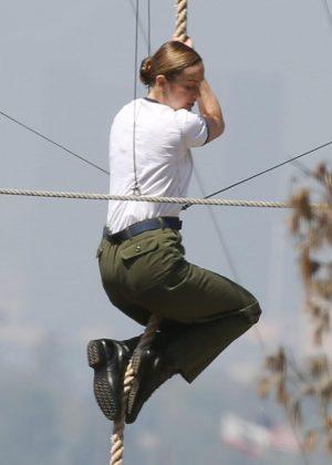 Brie Larson - Filming 'Captain Marvel' set in LA