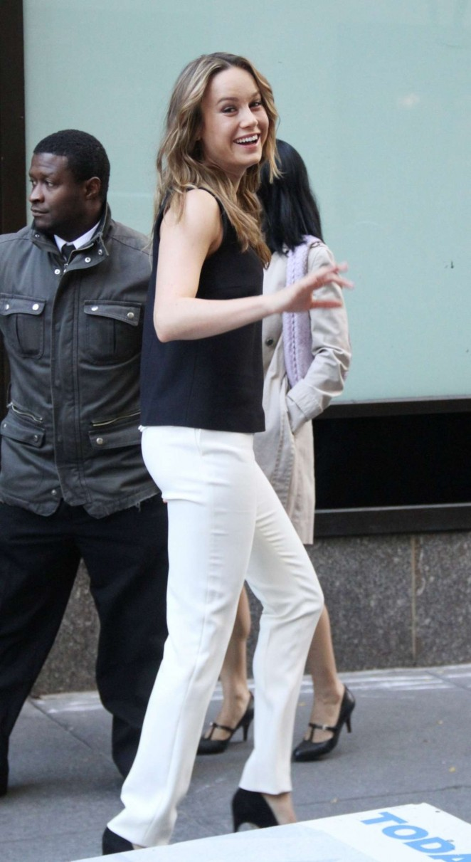 Brie Larson - Heads to Today Show in New York