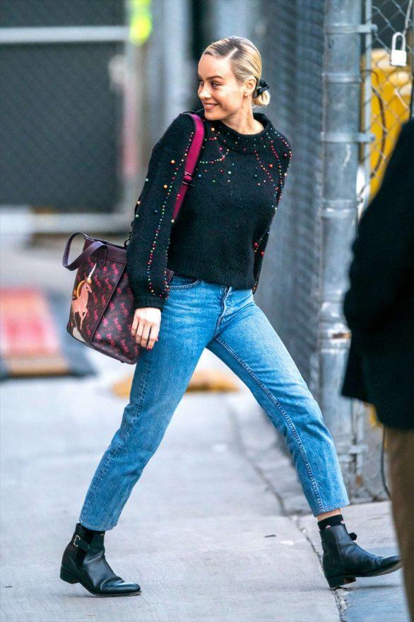 Brie Larson - In Jeans is seen leaving Jimmy Kimmel Live in Los Angeles