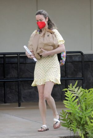 Brie Larson - In mini dress on vacation in Hawaii