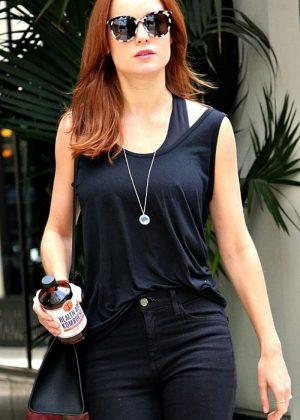 Brie Larson - Leaves Beauty Salon in Los Angeles