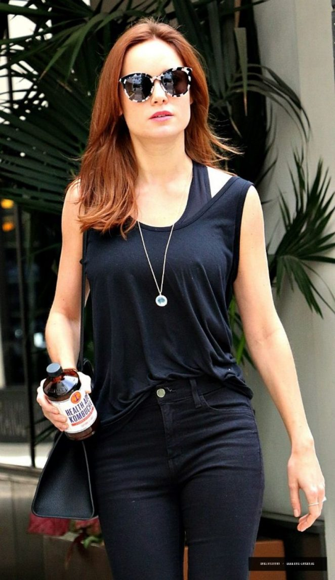 Brie Larson – Leaves Beauty Salon in Los Angeles