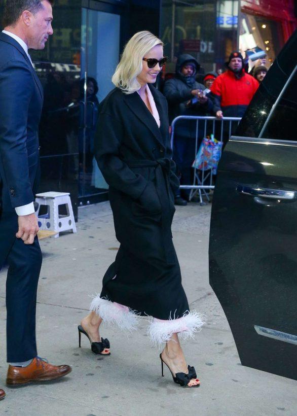 Brie Larson - Leaving Good Morning America in New York