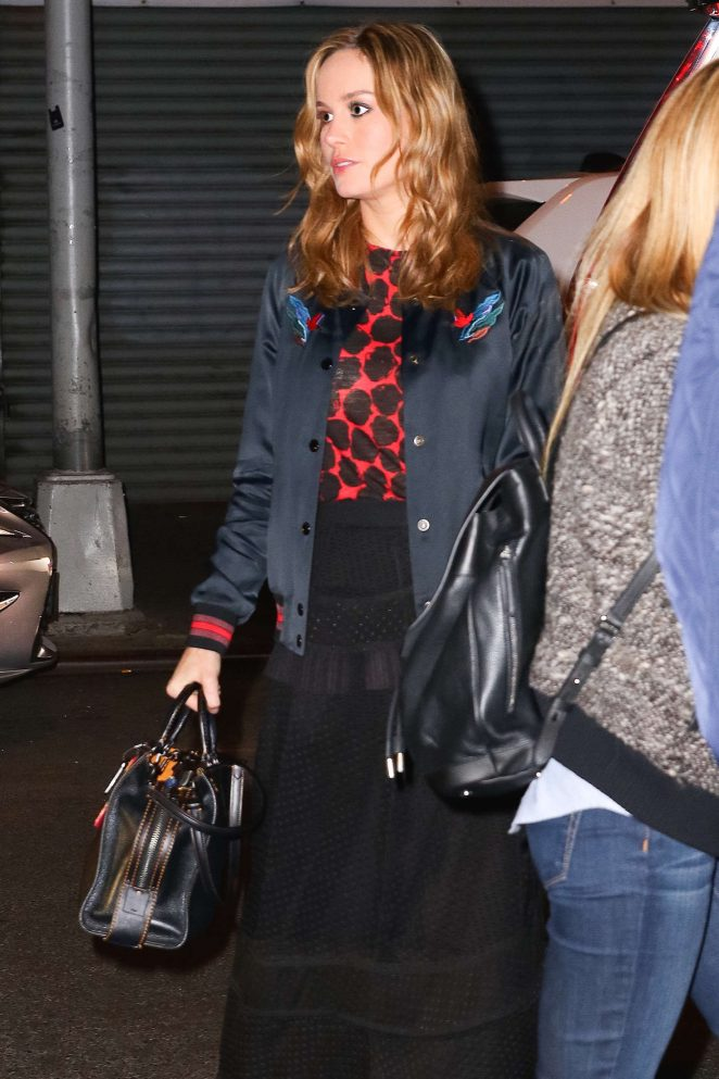 Brie Larson Night out in New York -12