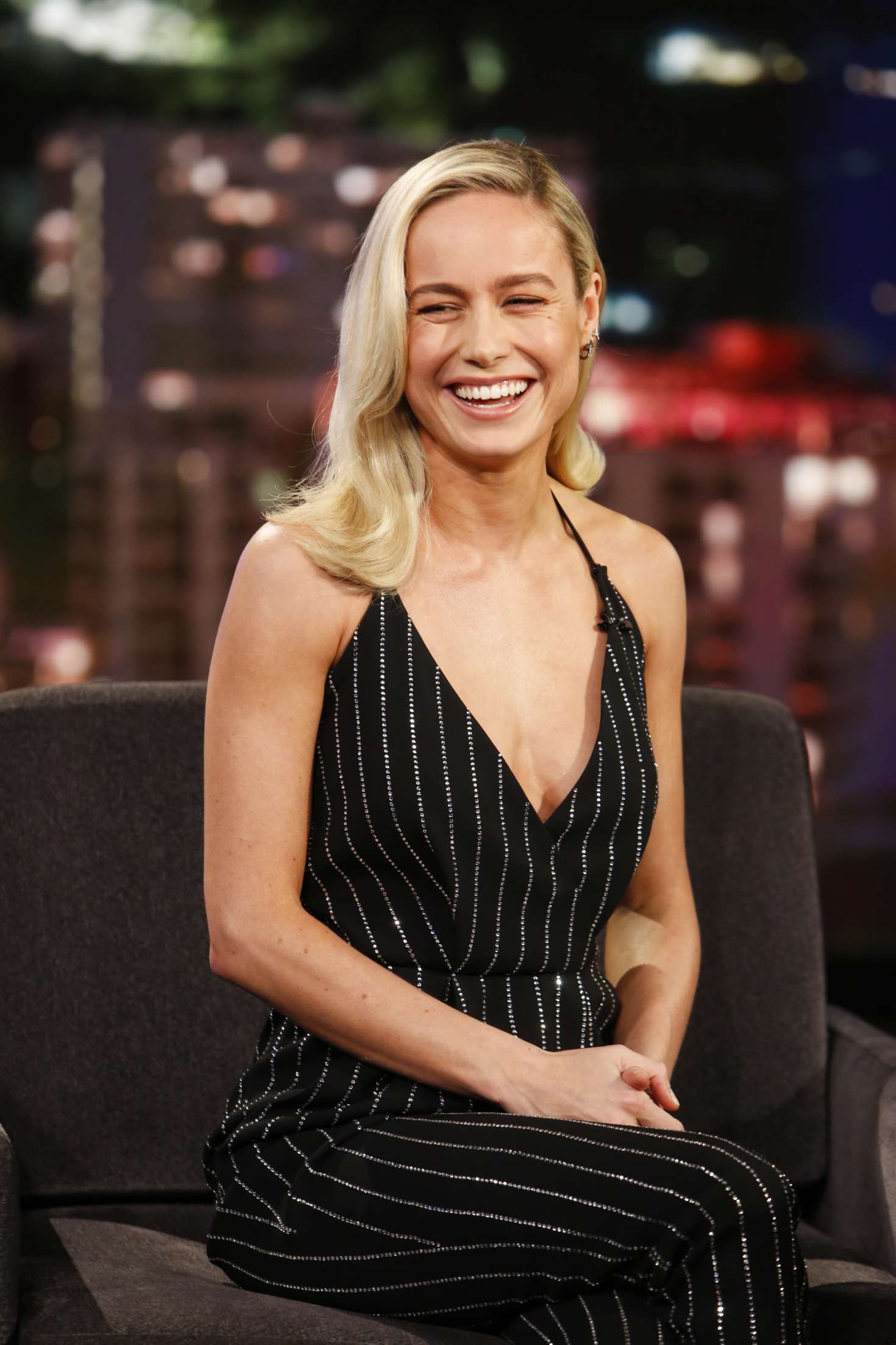Brie Larson - On Jimmy Kimmel Live! in Los Angeles