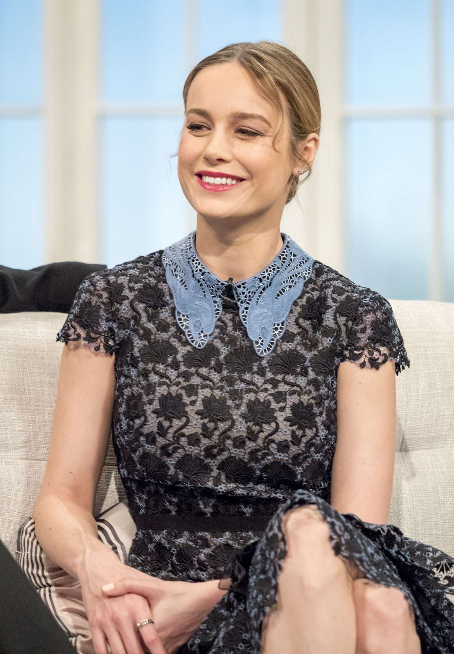 Brie Larson on 'Lorraine' TV show in London