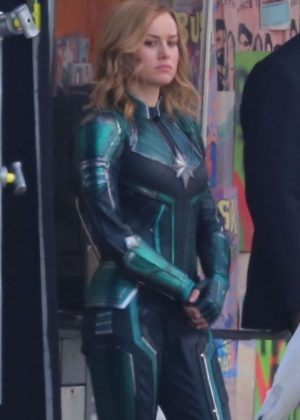 Brie Larson - On set of 'Captain Marvel' in North Hollywood