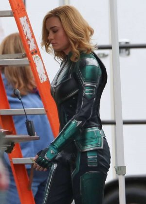 Brie Larson - On the set of 'Captain Marvel' in LA