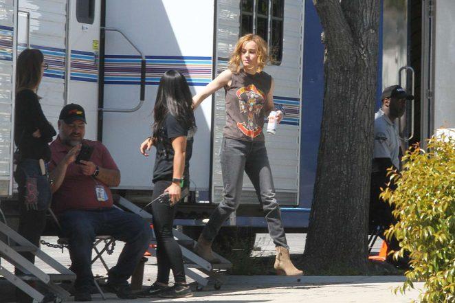 Brie Larson – On the set of 'Captain Marvel' in LA