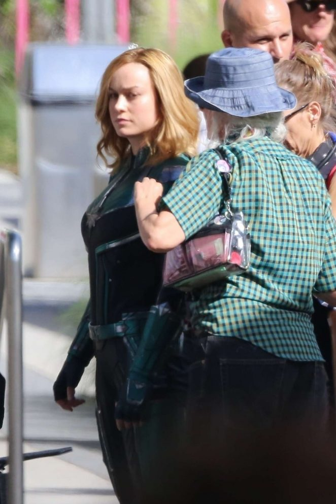 Brie Larson: On the set of Captain Marvel -01